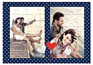 Puzzle, Ona a on, 9 dílků