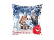 Polštářek, satén, Kouzelná zima, 25x25 cm