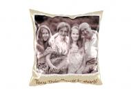 Polštářek, bavlna, Z rodinného alba, 25x25 cm