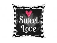 Polštářek, bavlna, Sladká láska, 25x25 cm