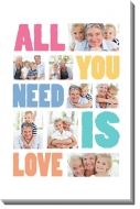 Obraz, All you need is love, 40x60 cm