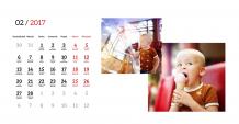 Kalendář, Váš projekt, 22x10 cm