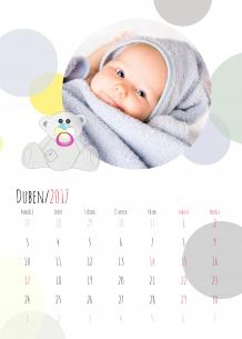 Kalendář, Medvídkova krajina, 30x40 cm