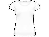 Tričko dámské, Prázdná šablona