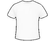 Tričko pánská, Prázdná šablona