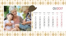 Kalendář, Pro babičku a dědečka, 22x10 cm