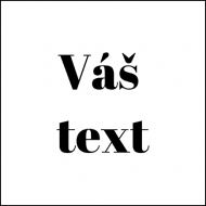 Magnet Váš text, 6x6 cm
