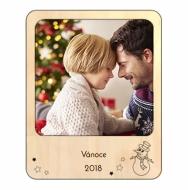Magnetický dřevěný rámeček Svátky, 11x14 cm