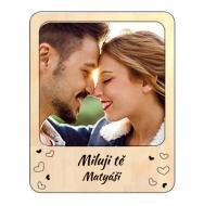Magnetický dřevěný rámeček Pro zamilované, 11x14 cm