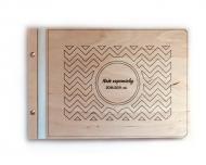 Dřevěné album Naše vzpomínky, 34x23 cm
