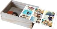 Dřevěná krabička, Mozaikové vzpomínky, 12x17 cm