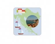 Přívěsek Chorvatsko, 6x6 cm