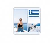 Přívěsek Řecko, 6x6 cm
