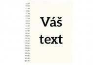 Sešit  Váš text čtverečkovaný, 15x21 cm