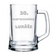 Pivní půllitr 30. narozeniny Lukáše