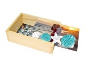 Dřevěná krabička, Prázdninové vzpomínky, 17x12 cm