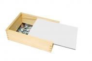 Dřevěná krabička, Prázdná šablona, 17x12 cm