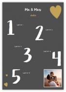 Plakát, Seznam svatebních hostů, 50x70 cm