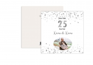 Fotopřání K 25. výročí svatby, 14x14 cm