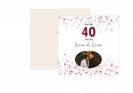 Fotopřání K 40. výročí svatby, 14x14 cm