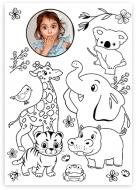 Plakát, Omalovánka - Zvířátka, 60x80 cm