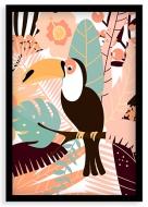 Plakát v rámu, Tukan - černý rámeček, 20x30 cm