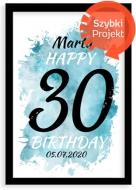Plakát v rámu, Plakát k 30. narozeninám, 20x30 cm