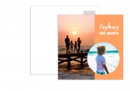Fotopřání Pohlednice - Prázdniny u moře , 14x14 cm