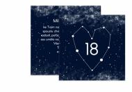 Fotopřání Kosmické osmnáctiny, 14x14 cm