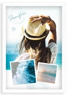 Plakát v rámu, Oceán - bílý rámeček, 20x30 cm