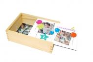 Dřevěná krabička, Narozeniny, 17x12 cm