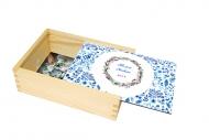 Dřevěná krabička, S věnováním pro učitele , 17x12 cm