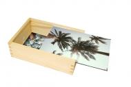 Dřevěná krabička, Palmy, 12x17 cm