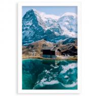 Plakát v rámu, Alpy, 20x30 cm