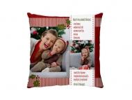 Polštářek, bavlna, Recept na dobré Vánoce, 25x25 cm