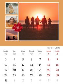 Kalendář, Elegantní Šťastný Nový rok, 30x40 cm