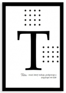 Plakát v rámu, Typografický plakát pro Tátu, 20x30 cm