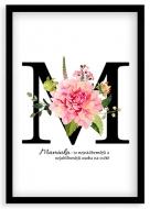 Plakát v rámu, Typografický plakát pro maminku , 20x30 cm