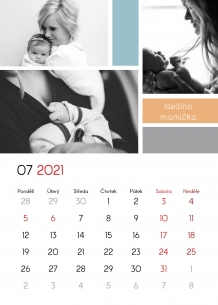 Kalendář, Děkuji, Mami, 20x30 cm