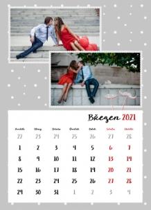 Kalendář, Kalendář plný lásky , 20x30 cm