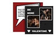 Fotopřání Be mine Valentine, 14x14 cm