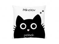 Polštářek, bavlna, Pelíšek pro černou kočku , 38x38 cm