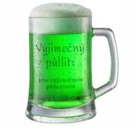 Pivní půllitr Zelený půllitr na Zelený čtvrtek