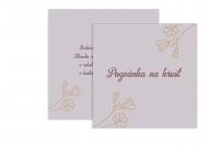 Fotopřání Pozvánka na křtiny - květinový vzor pro holčičku , 14x14 cm