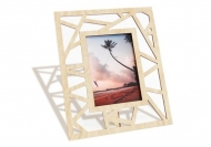 Dřevěné fotorámečky Trojúhelníky, 18x22 cm