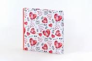 Fotoalbum Hearts pro lepení 30 listů, 29x29 cm