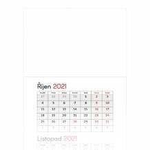Tříměsíční kalendář, Prázdná šablona, 30x85