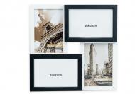 Fotorámeček Pro 4 fotografie černo-bílý, 29x29 cm