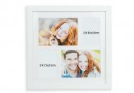 Fotorámeček Pro 4 fotografie bílý , 39x39 cm