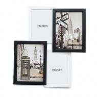 Fotorámeček Pro 4 fotografie černo-bílý, 38,5x38,5 cm